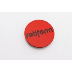 Rotiform středová krytka červená/zlatá
